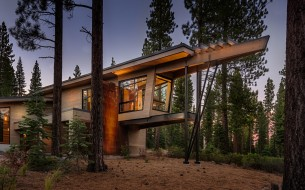 Flight House exterior prow image, Truckee CA by Sage Architecture