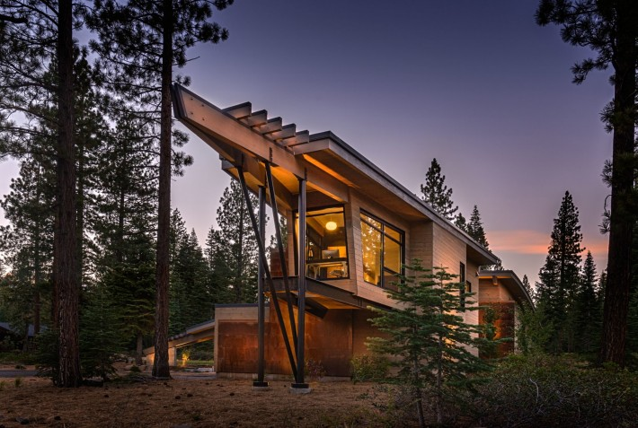 Prow of Sage Flight House, Truckee, CA by Sage Architecture