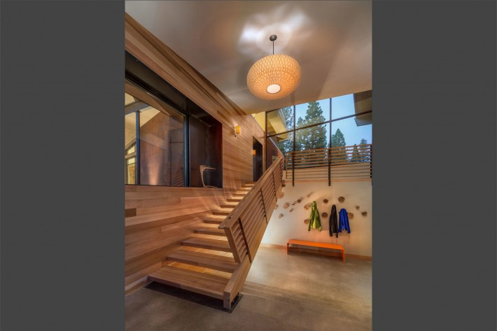 Staircase at Sage Flight House in Truckee, CA by Sage Architecture