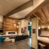 Living room and kitchen in the Sage Flight House, Truckee, CA by Sage Architecture