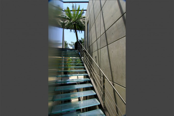 Urban Oasis stairs, Mexico City, designed by Sage Architecture