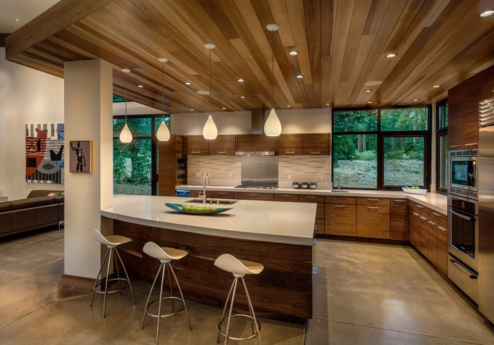 Kitchen Area of Sage Flight House, Truckee CA by Sage Architecture