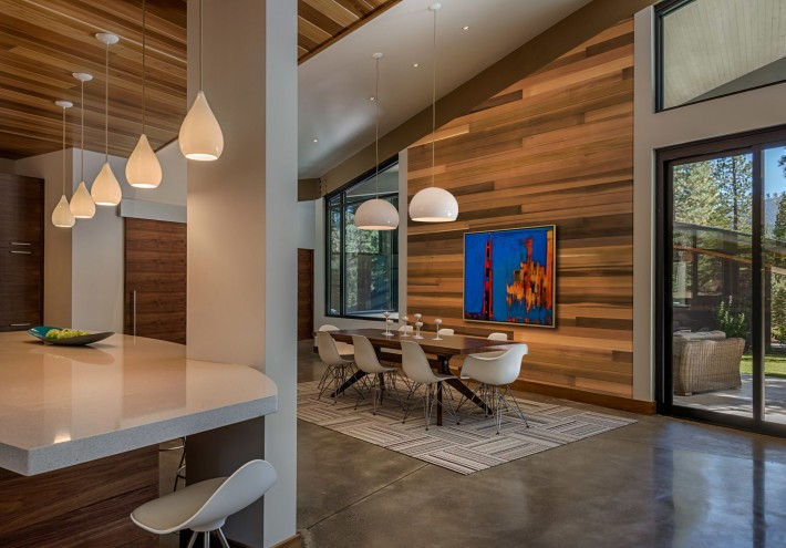 Dining room at Sage Flighthouse, Truckee CA, by Sage Architecture
