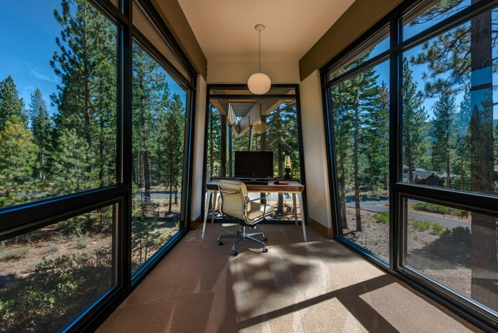Office In Sage Flight House, Truckee California, by Sage Architecture