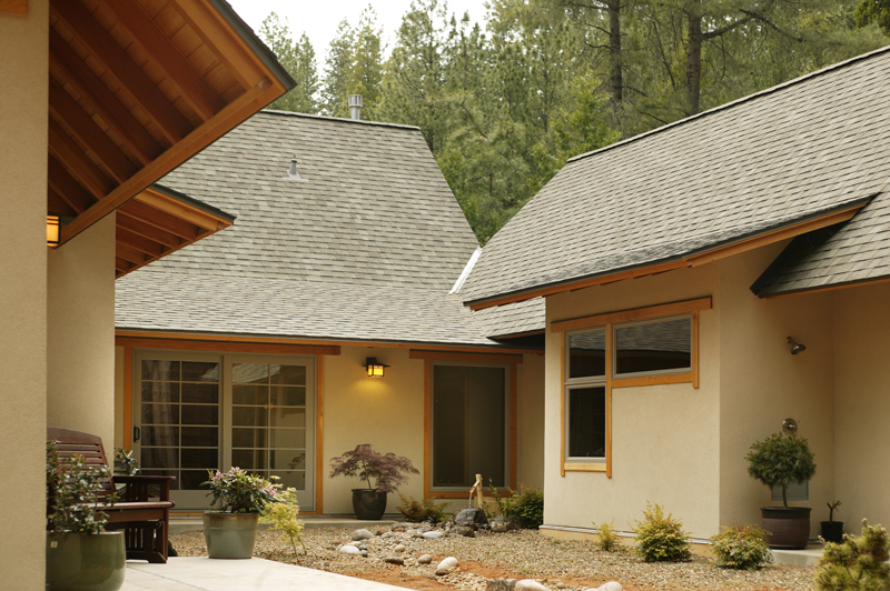 Japanese Courtyard House Amador County Japanese Homes